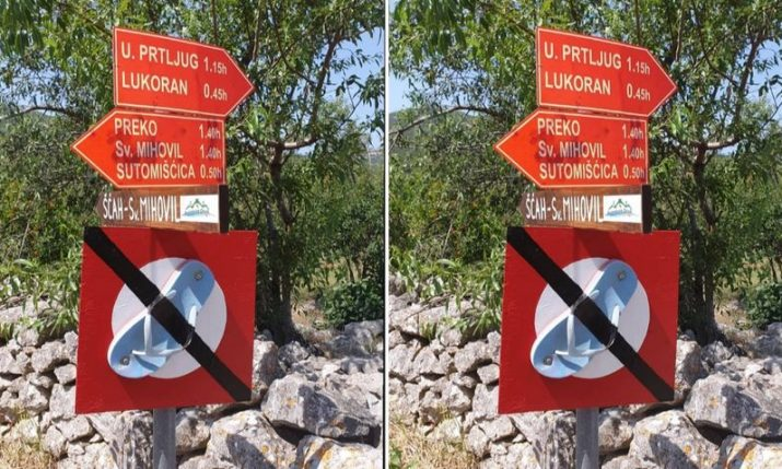 Croatian Mountain Rescue Service's message for tourists who can't speak Croatian goes viral