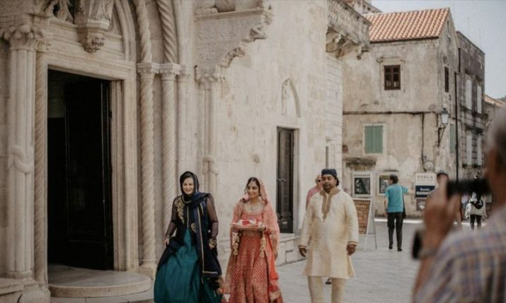 PHOTOS: Traditional Indian wedding takes place in Korčula Old Town