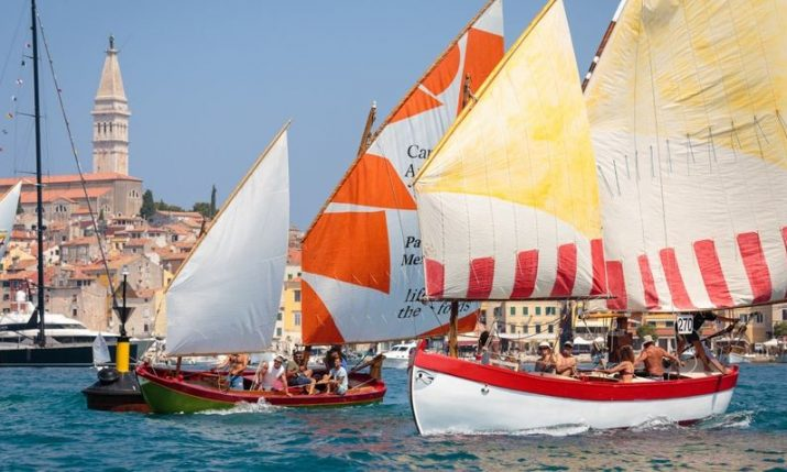 Rovinj's regatta of traditional boats with lug & latin sails to take place on 16 June