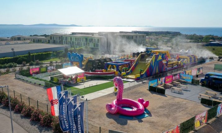 PHOTOS: World's biggest bouncy castle arrives in Zadar for the summer