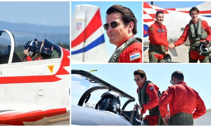 "Actor Goran Višnjić joins Croatian Air Force aerobatic team ""Wings of Storm"" on flight"