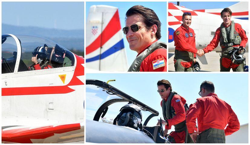 """Actor Goran Višnjić joins Croatian Air Force aerobatic team """"Wings of Storm"""" on flight"""
