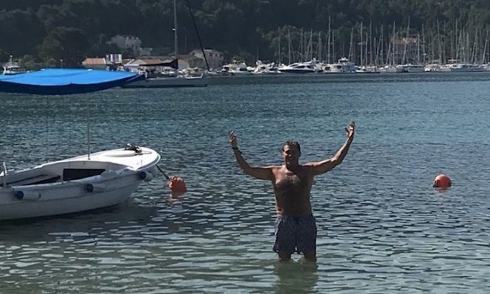Former Baywatch star David Hasselhoff hits the beach in Croatia