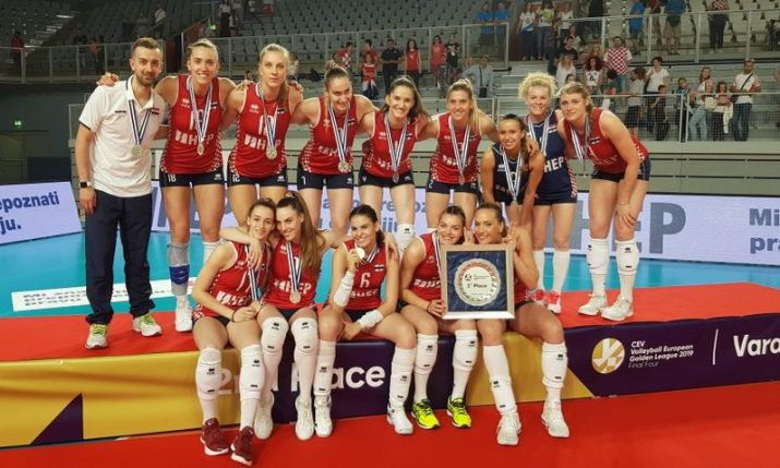 Croatian women's volleyball team win European Golden League silver medal