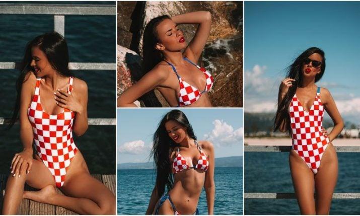 Popular Croatian World Cup fan launches CROkini swimwear collection