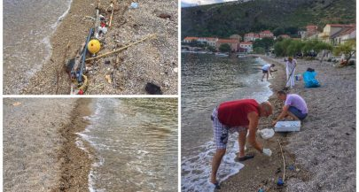 A lesson in keeping Croatian beaches clean fromPelješac