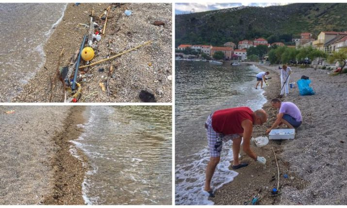 A lesson in keeping Croatian beaches clean from Pelješac