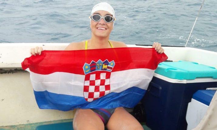 Dina Levacic aims to be first to swim from Vis to Split in 45 years