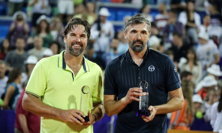 PHOTOS: Ivanisevic beats Rafter in Wimbledon final repeat in Umag