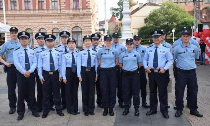 Korean & Chinese police officers helping Croatian  colleagues in Safe Tourism Season project