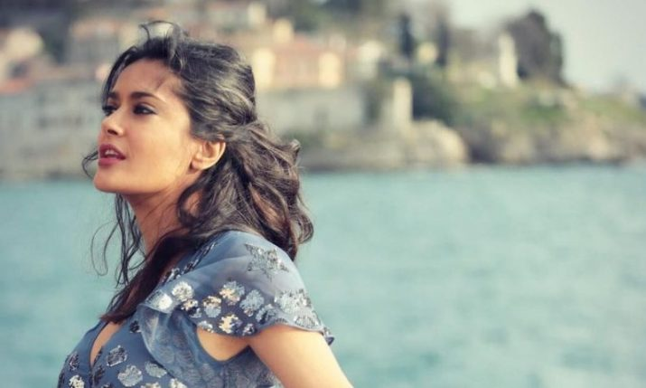 Actress Salma Hayek arrives in Split