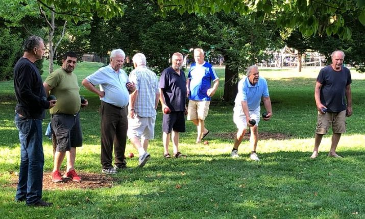 """Everyone knows about the Croatian Bocce players at Welles Park"" in Chicago"