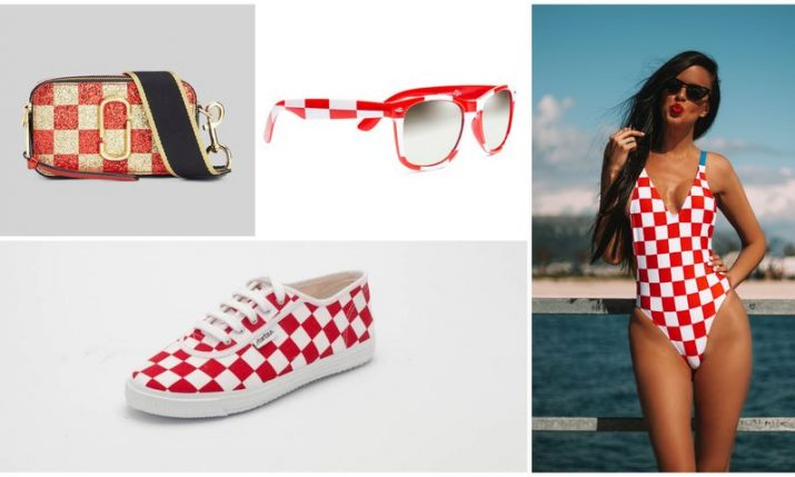 Croatian red & white checker summer fashion