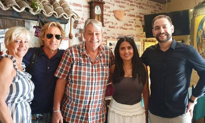 PHOTO: Owen Wilson & Salma Hayek lunch at popular konoba in Split