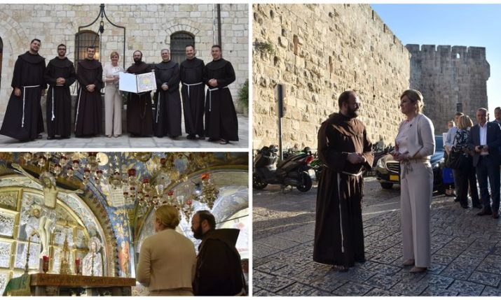 President meets with Croatian Franciscans in Jerusalem