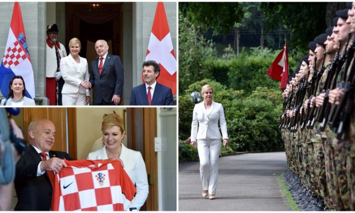 Croatian president arrives in Switzerland on official visit