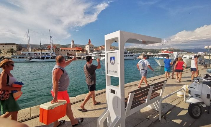 First Monna cycling point in the world installed in Trogir