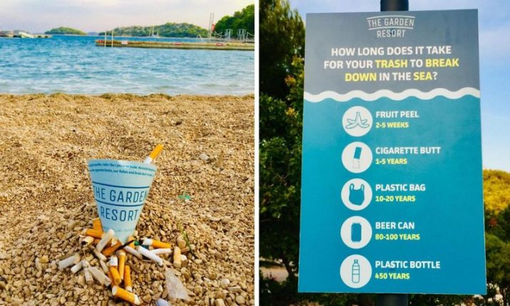 Campaign for cigarette butt-free beaches in Dalmatia being conducted