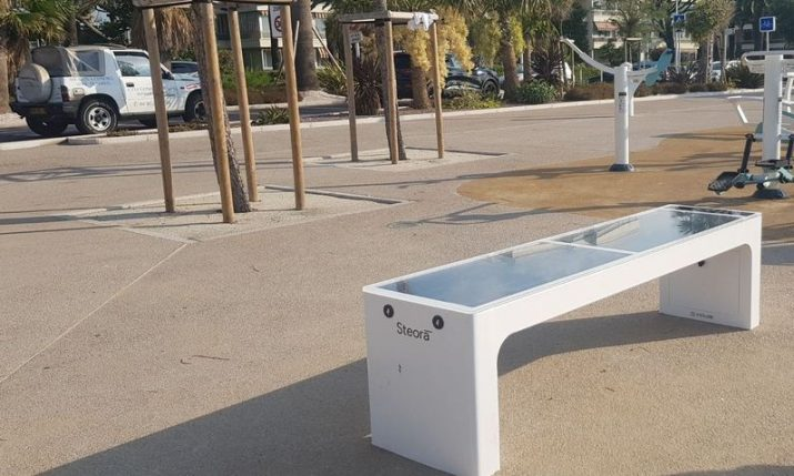 Croatian smart benches installed on French Riviera in Cannes
