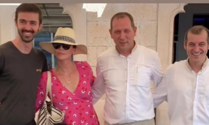VIDEO: Hollywood star Charlize Theron enjoying Croatian holiday