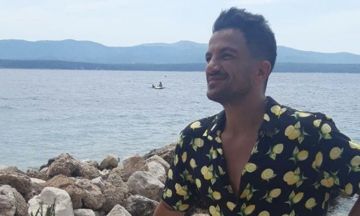 Singer Peter Andre combining Croatian holiday with work