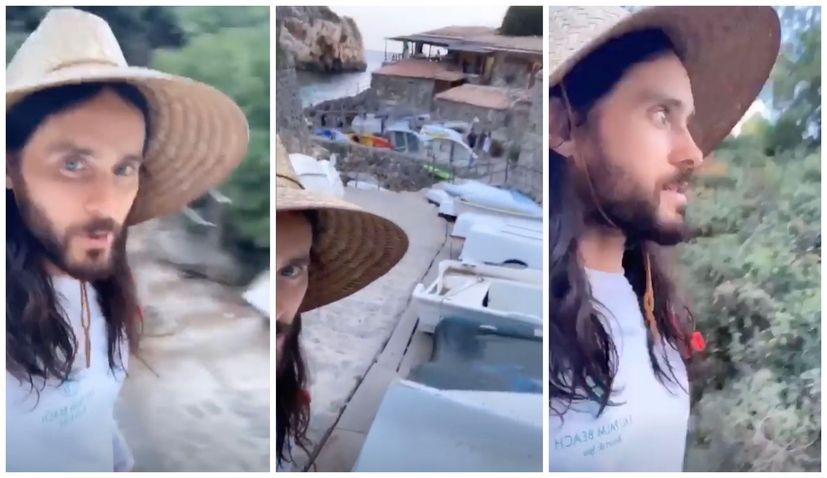 Jared Leto arrives on Croatian island for festival with Thirty Seconds to Mars