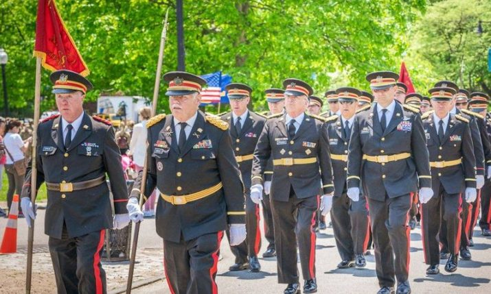 Oldest chartered military organization on historic visit to Croatia