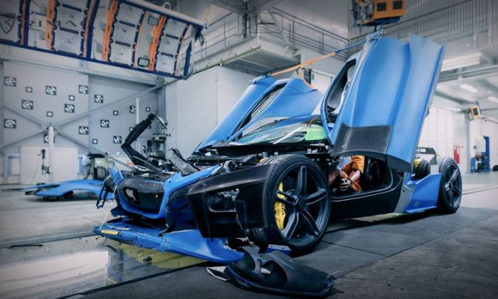 VIDEO: Crash-testing the Rimac C_Two Hypercar 5x