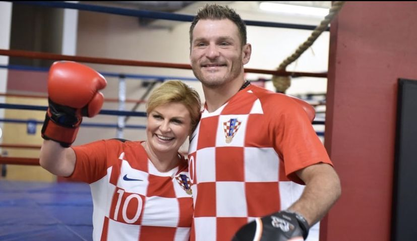 VIDEO: Croatian president spars with UFC champ Stipe Miocic