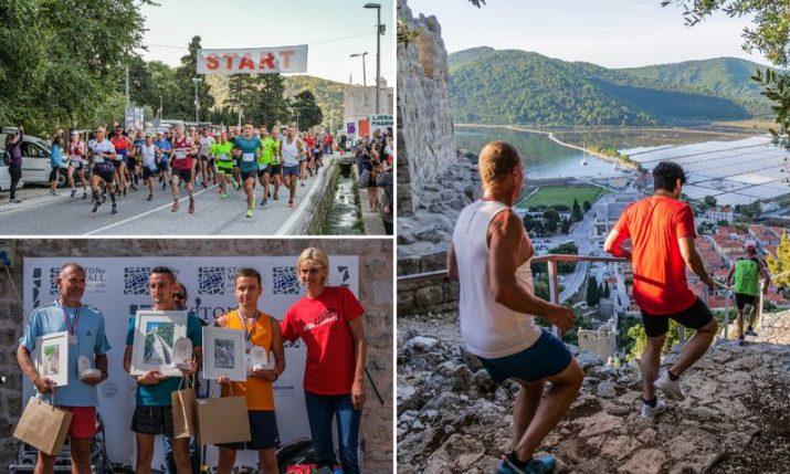 PHOTOS: 250 runners from around the world run unique Ston Wall Marathon