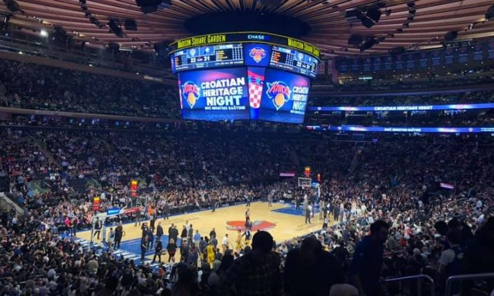 Croatian Heritage Night to be held at Madison Square Garden for New York Knicks v Cleveland Cavaliers NBA game