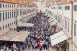 200m dining table feast signs off tourist season in Dubrovnik