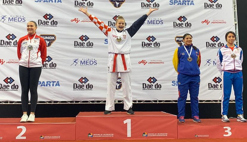 Croatia's Lucija Lesjak becomes world karate champion