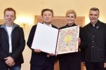 President awards charter of Croatia to band Prljavo Kazalište on 40th anniversary
