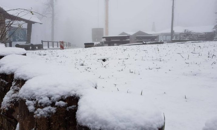 VIDEO: First snow falls on Sljeme in Zagreb