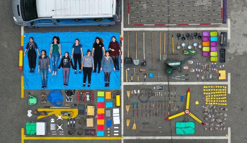 PHOTO: Croatian archaeology team join Tetris Challenge