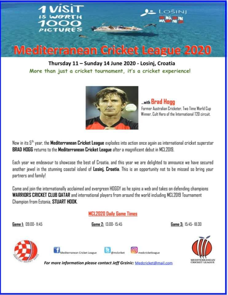 Cricket Tournament Anouncment Wording: Island Of Losinj To Host International Cricket Tournament