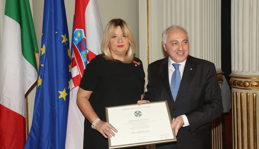 Croatian National Theatre head honoured with high Italian decoration