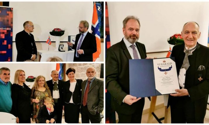 Norway awards Croatian Tonci Peovic Order of Merit for outstanding service