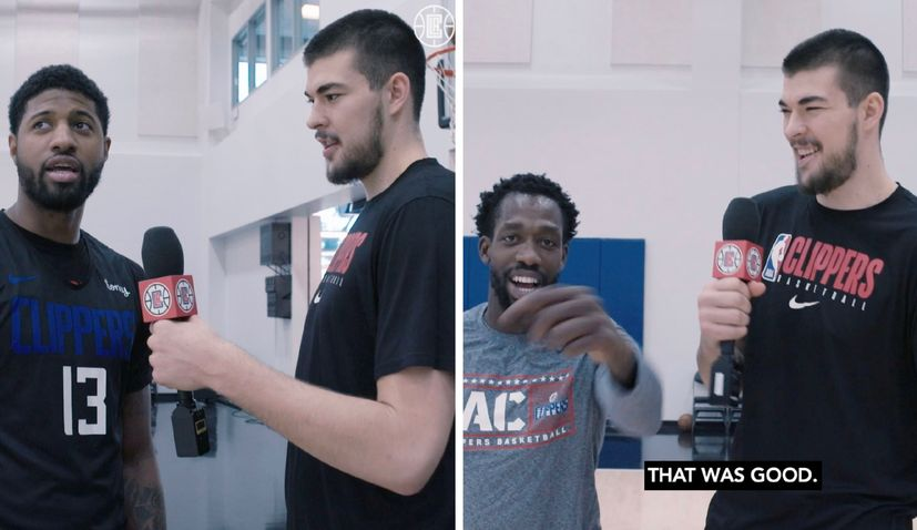 VIDEO: Ivica Zubac teaches his LA Clippers teammates some Croatian