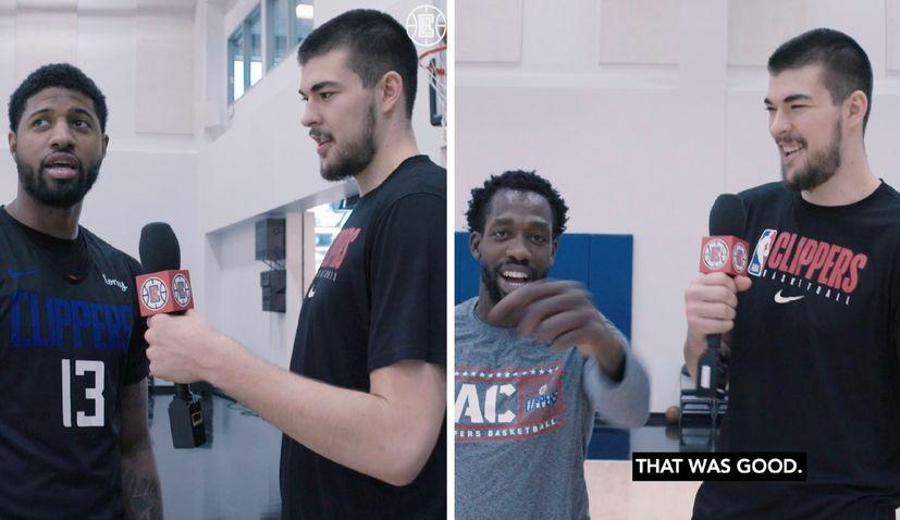 VIDEO: Ivica Zubac teaches his LA Clippers teammates some Croatian