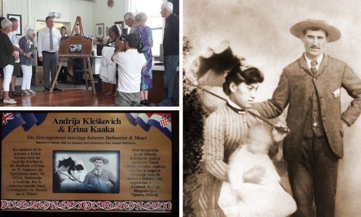 First marriage between a Croatian and Māori celebrated with plaque unveiling