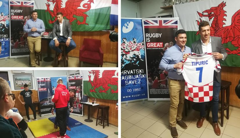 PHOTOS: Wales rugby star Justin Tipuric in Zagreb