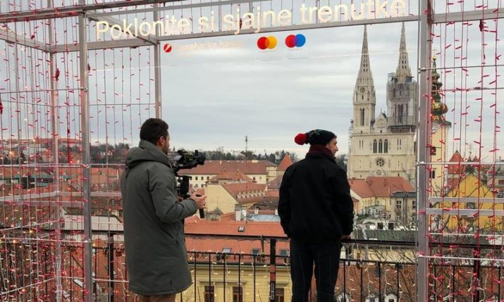 Russia's Muz-TV music channel filming Zagreb's Christmas market