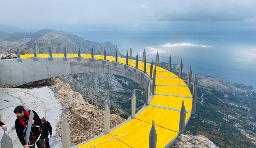 PHOTOS: New skywalk attraction on Biokovo mountain taking shape