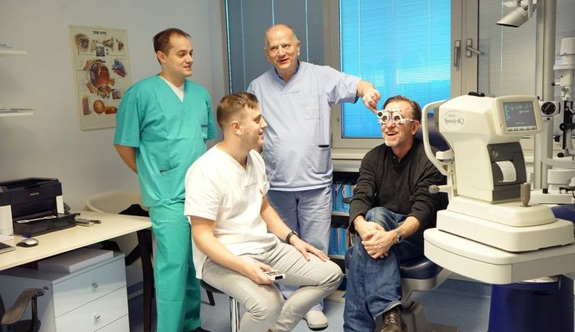 Hollywood actor Tim Roth in Croatia for eye surgery