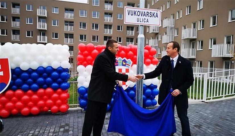 Slovakian capital name street after Vukovar