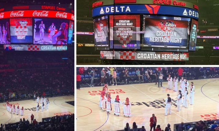 Croatian culture takes over NBA match in LA