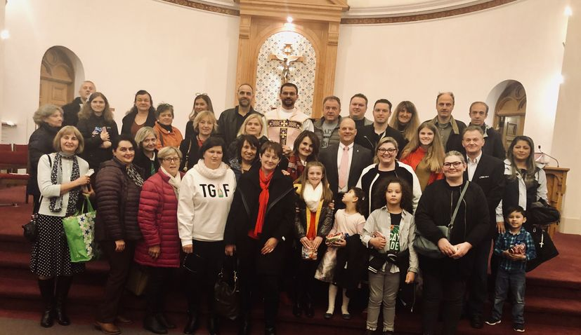 Christmas Holy Mass in Croatian tradition in Boston