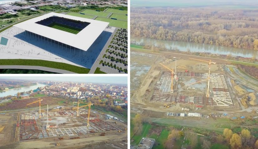 VIDEO: Construction of impressive new football stadium in Osijek on track